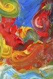 Het abstracte olieverfschilderij van kunstenaars stock afbeeldingen