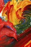 Het abstracte olieverfschilderij van kunstenaars stock afbeelding