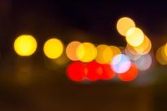 Het abstracte onduidelijke beeld van de nachtstad Royalty-vrije Stock Afbeelding