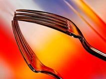 Het Abstracte Ontwerp Backgroud van de vork Royalty-vrije Stock Foto's