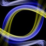 Het abstracte ontwerp van de ecogolf Stock Afbeelding