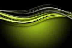 Het abstracte ontwerp van de ecogolf Stock Afbeeldingen