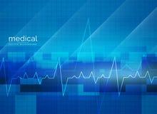Het abstracte ontwerp van de gezondheidszorg medische vectoraffiche vector illustratie
