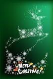 Het abstracte ontwerp van de Kerstmiskaart van rendier die de hemel vliegen - vectoreps10 Royalty-vrije Stock Foto's