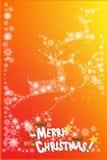 Het abstracte ontwerp van de Kerstmiskaart van sneeuwvlokpatroon - vectoreps10 Stock Afbeelding