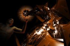 Het abstracte ontwerp van de mens Stock Afbeeldingen