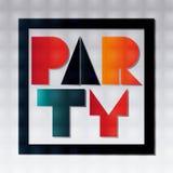 Het abstracte ontwerp van de partijaffiche vector illustratie