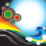 Het abstracte Ontwerp van de Regenboog Royalty-vrije Stock Foto