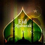 Islamitische groetkaart voor Eid Mubarak Stock Foto's