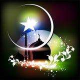 Islamitische groetkaart voor Eid Mubarak Stock Fotografie