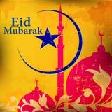 Islamitische groetkaart voor Eid Mubarak Stock Afbeelding