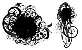 Het abstracte ontwerp van de vlekwerveling Royalty-vrije Stock Afbeeldingen