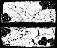 Het abstracte ontwerp van grungevalentijnskaarten stock illustratie