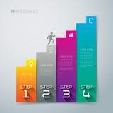 Het abstracte ontwerp van het infographicsmalplaatje. Stock Afbeeldingen