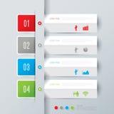 Het abstracte ontwerp van het infographicsmalplaatje. Stock Foto