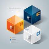 Het abstracte ontwerp van het infographicsmalplaatje. Stock Afbeelding
