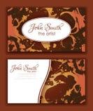 Het abstracte ontwerp van het marmeringsadreskaartje Royalty-vrije Stock Foto