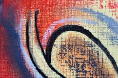 Het abstracte pastelkleur schilderen stock illustratie