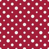 Het abstracte patroon van de de kunst halftone polka van meetkunde rode en witte deco royalty-vrije illustratie