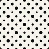 Het abstracte patroon van de de kunst halftone polka van meetkunde zwart-witte deco stock illustratie