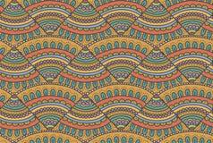 Het abstracte patroon van de krabbelpizza Stock Foto's