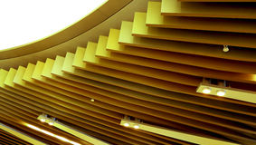 Het abstracte patroon van de plafond houten inrichting Royalty-vrije Stock Fotografie