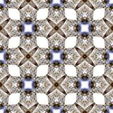 Het abstracte patroon van de symmetrie geometrische naadloze waterverf met zeeschelpentextuur stock illustratie