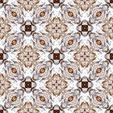 Het abstracte patroon van de symmetrie geometrische naadloze waterverf met zeeschelpentextuur vector illustratie