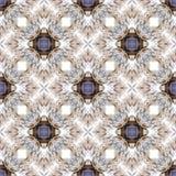 Het abstracte patroon van de symmetrie geometrische naadloze waterverf met zeeschelpentextuur royalty-vrije illustratie