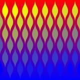 Het abstracte Patroon van de Tegel van Vlammen Royalty-vrije Stock Afbeeldingen