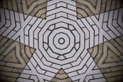 Het abstracte patroon van vormenbakstenen Stock Afbeelding