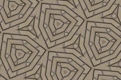 Het abstracte patroon van vormenbakstenen stock fotografie