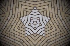 Het abstracte patroon van vormenbakstenen Royalty-vrije Stock Foto