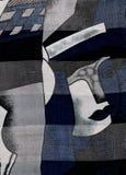 Het abstracte portret van de vrouw. stock fotografie
