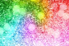 Het abstracte regenbooggoud schittert achtergrond Stock Fotografie