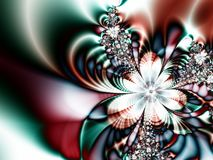 Het abstracte Rode Blauwe Patroon van de Ster Royalty-vrije Stock Afbeelding