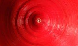 Het abstracte ronde patroon van de de rode kleurentextuur van de cirkel geometrische vorm Stock Foto