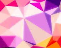 Het abstracte roze behang van kleuren glanzende lage polybokeh Stock Afbeeldingen
