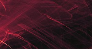 Het abstracte roze en purpere licht gloeit, stralen, vormen op donkere achtergrond Stock Foto