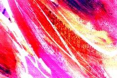 Het abstracte roze schilderen door olie op canvas Royalty-vrije Stock Afbeeldingen