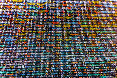 Het abstracte scherm van de programmeringscode van softwareontwikkelaar royalty-vrije stock foto's