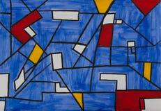 Het abstracte schilderen royalty-vrije illustratie