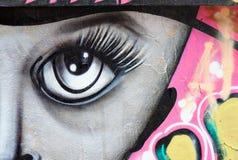 Het abstracte schilderen in Arthur Verona-straat in Boekarest, Roemenië Stock Fotografie