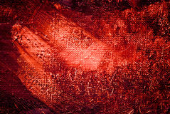 Het abstracte schilderen, Bordeauxluminescentie, achtergrond Stock Foto