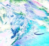 Het abstracte schilderen door olie op canvas Stock Foto