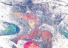 Het abstracte schilderen door olie op canvas, illustratie royalty-vrije illustratie