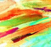 Het abstracte schilderen door olie op canvas, illustratie Stock Foto