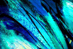 Het abstracte schilderen door olie op canvas, illustratie, achtergrond Stock Foto's