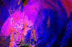 Het abstracte schilderen door olie op een canvas stock illustratie