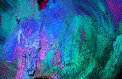 Het abstracte schilderen door olie op een canvas, achtergrond royalty-vrije stock afbeeldingen